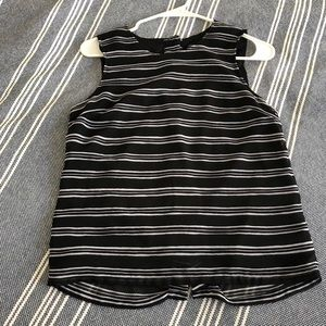 Banana Republic striped work top, back buttons, XS